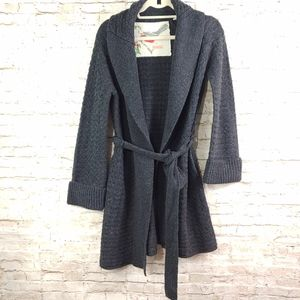 ANTHRO BRAND BELTED CARDIGAN SWEATER SZ MD